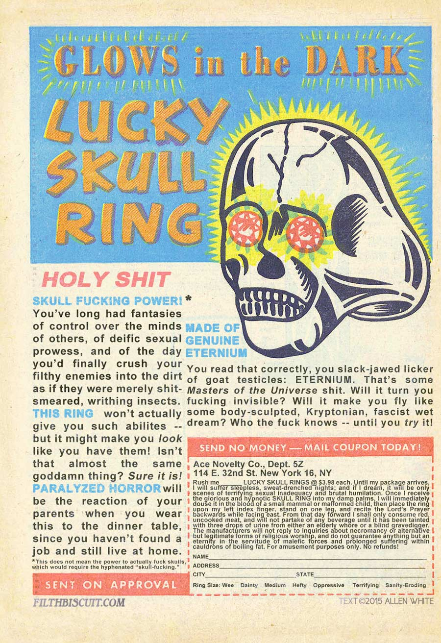 Filth Biscuit: Lucky Skull Ring